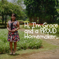 Hi my name is Grace, and I am a PROUD Homemaker...